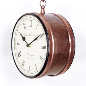 "Copper Finish 8"" Station Clock"