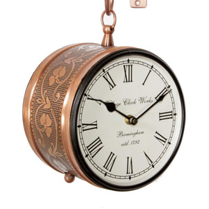 "Copper Finish 6"" Station Clock"