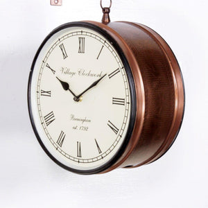 "Copper Finish 10"" Station Clock"