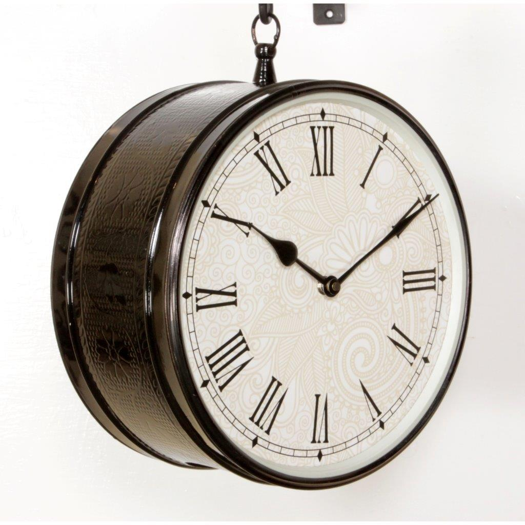 "10"" Station Clock With Black  Finish"