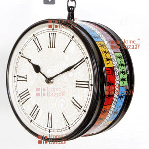 "8"" Station Clock Multi Finish"
