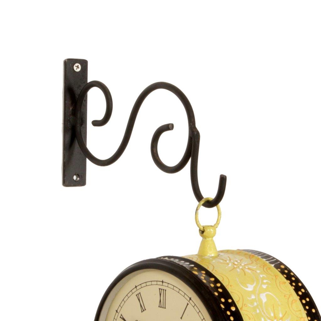 "Yellow Finish 6"" Station Clock"