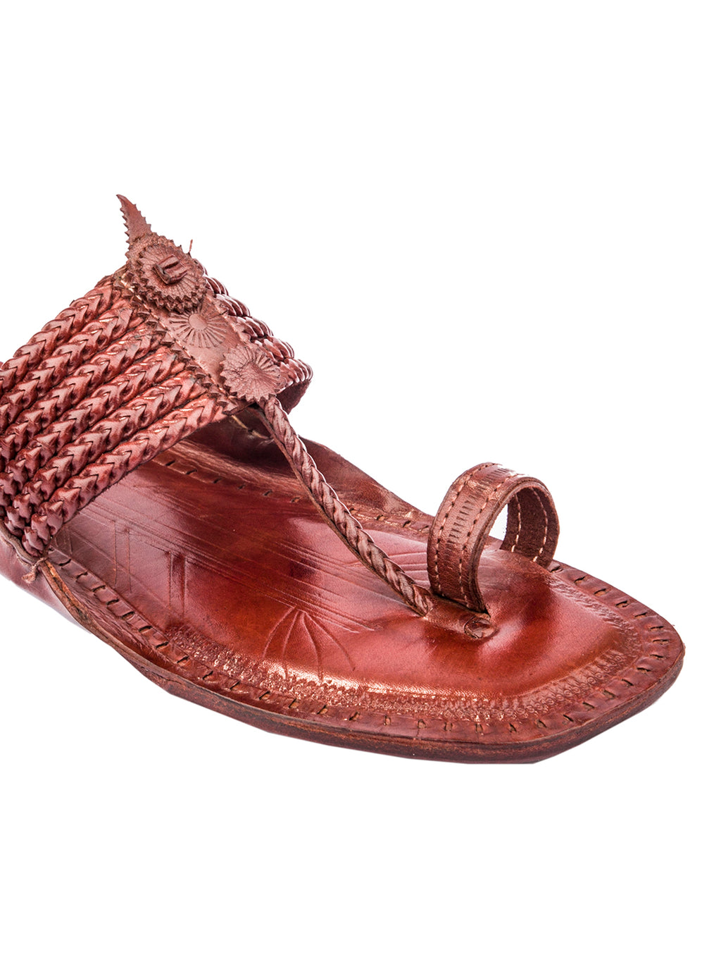 Six Braided Kolhapuri Chappal