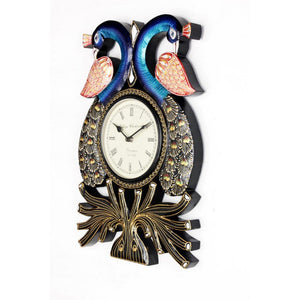 Traditional Peacock Shape Wall Clock