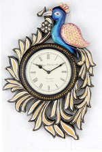 Ethnic Peacock Shape Wall Clock 12""