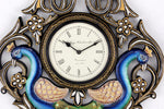 Traditional Peacock Wall Clock 12""