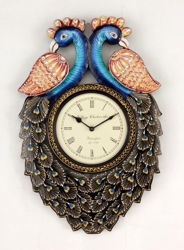 "12"" Traditional Peacock Wall Clock"