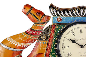 Traditional Camel Shape Wall Clock 12""