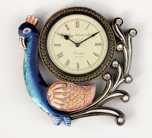 Traditional Peacock Wall Clock 12