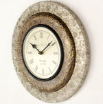 Brass/White Metal Combo Clock 12""