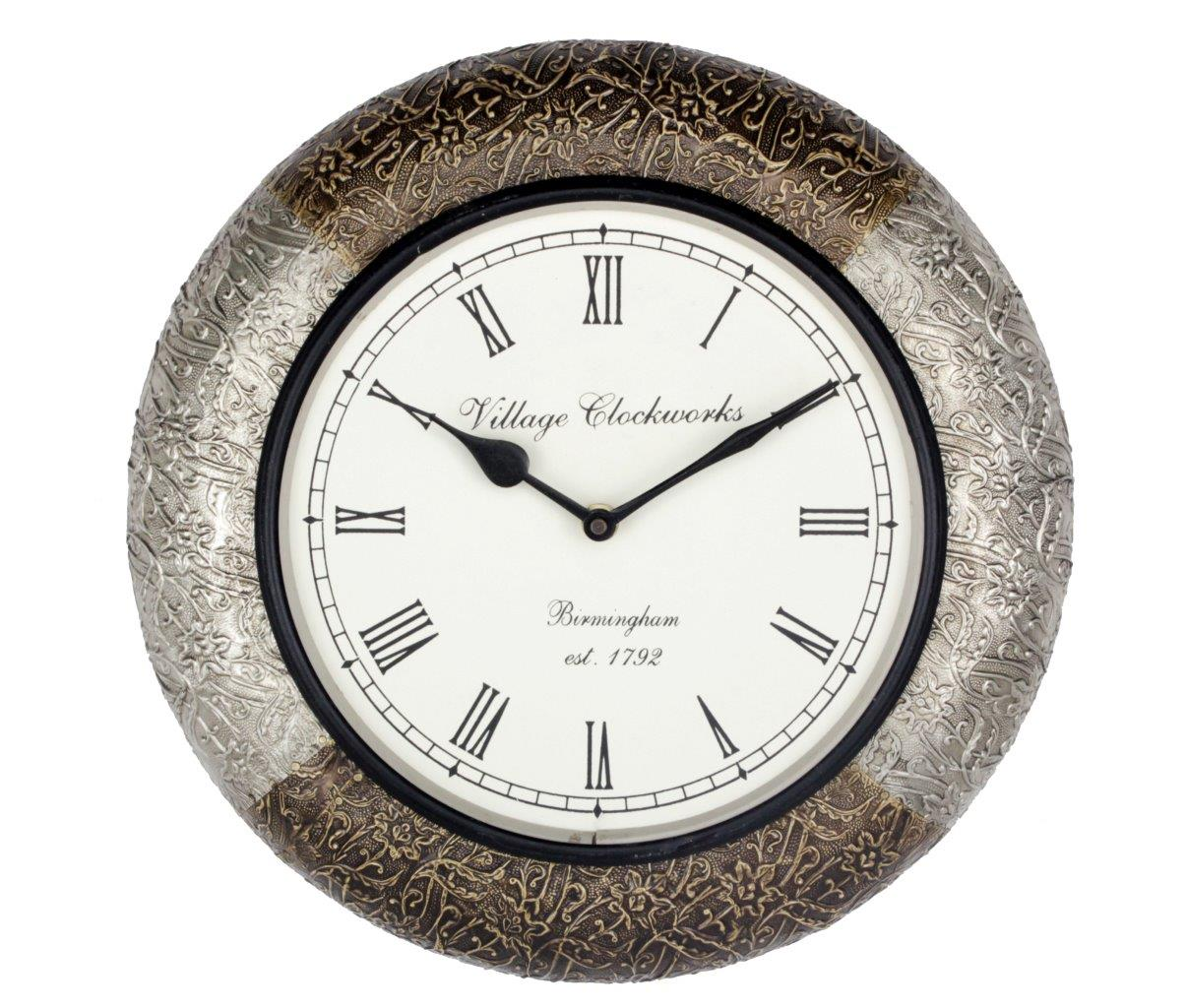 Multi Metal Combo Clock 12""