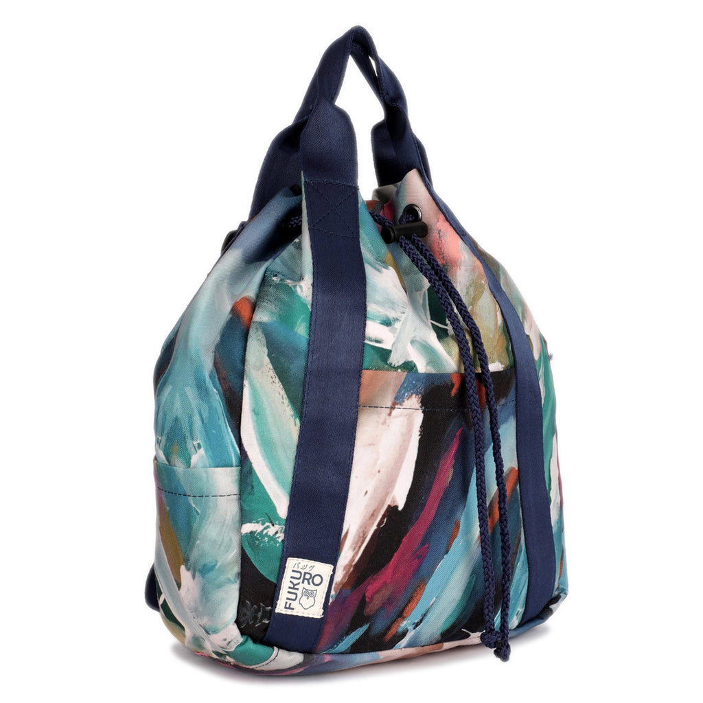 Printed Canvas Mini Backpack