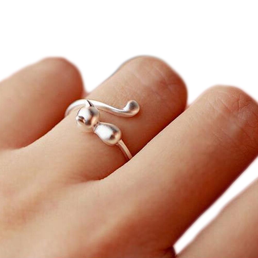 Beautiful Wrap Around Resizeable Cat's Tail Ring