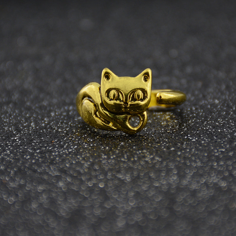 Antique Rescue Cat Ring