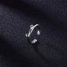 Load image into Gallery viewer, Silver Plated Cat Ear Ring