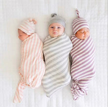 Load image into Gallery viewer, Baby Swaddle + Beanie (2 piece set)