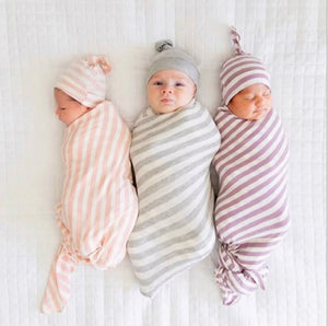 Baby Swaddle + Beanie (2 piece set)