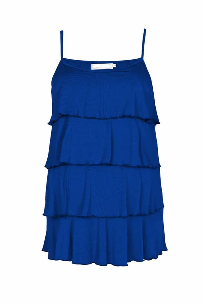 Royal Blue Ruffle Tank