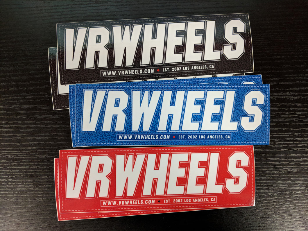 VR Wheels Sticker Decal