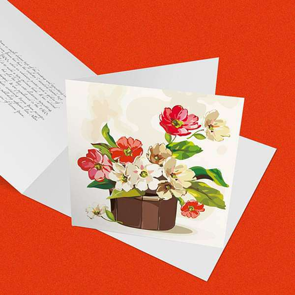 Standard greeting card (2.8 x 2.8 inch (7 x 7 cm)) (set of 10) - Nurserylive