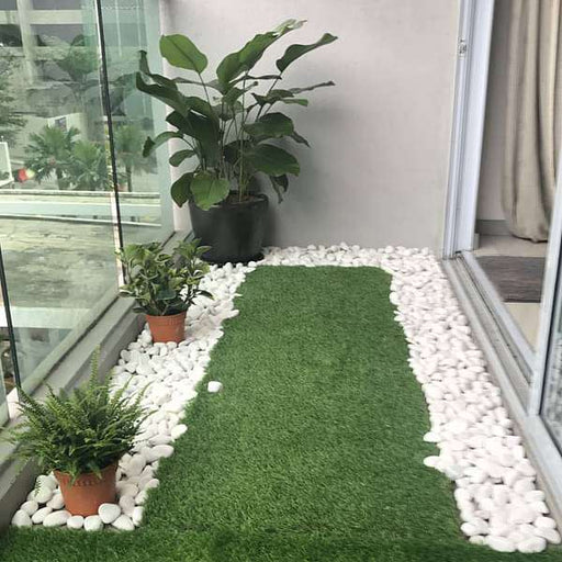 Beautify Balcony Edges with White Pebbles - Nurserylive