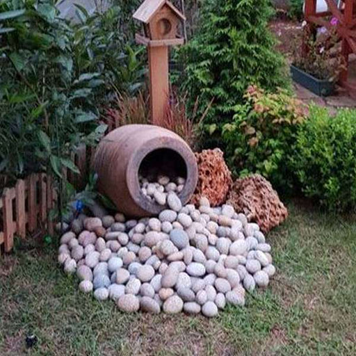 Garden Corner Decoration through Pebbles - Nurserylive