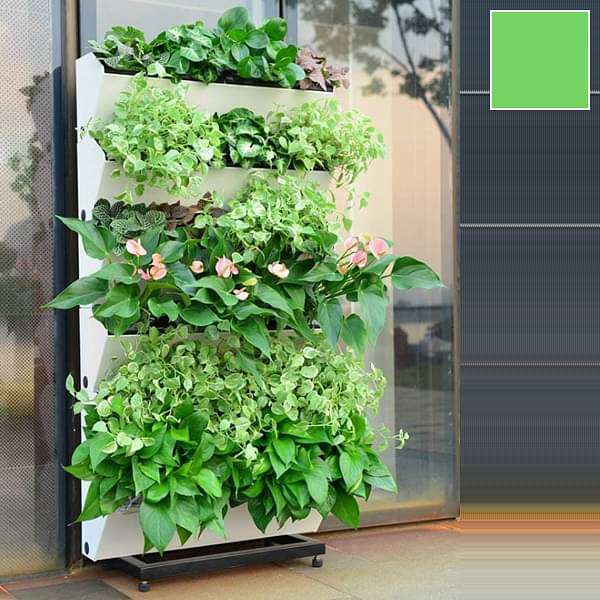 22.4 inch (57 cm) Hydrofall Self Watering Vertical Garden Planter and Wall Rack Kit (Lime Color) - Nurserylive