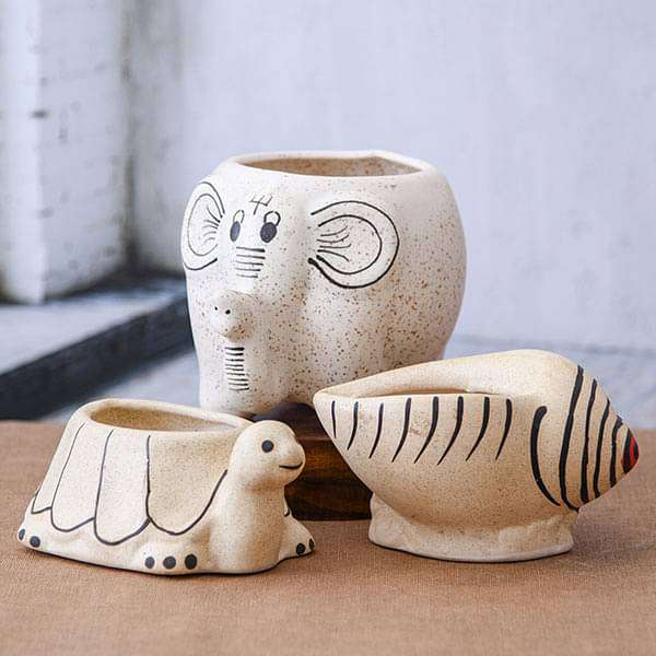 Beautiful Ceramic Pots - Pack of Three - Nurserylive