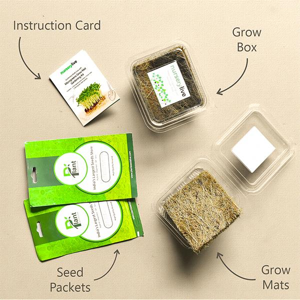 Gardening Made Easy with Microgreens Grow Mat Gardening Kit
