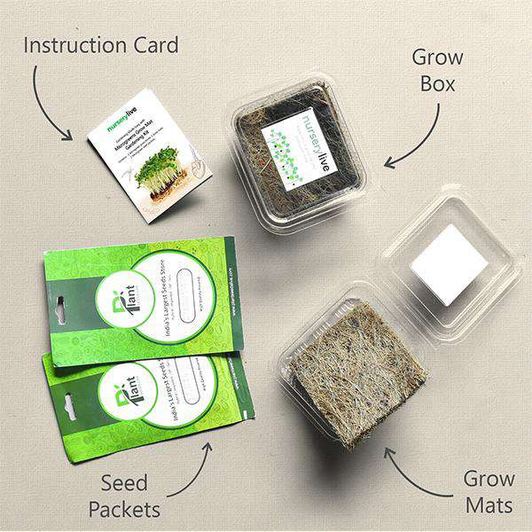 Gardening Made Easy with Microgreens Grow Mat Gardening Kit - Corporate Gift (Set of 30)