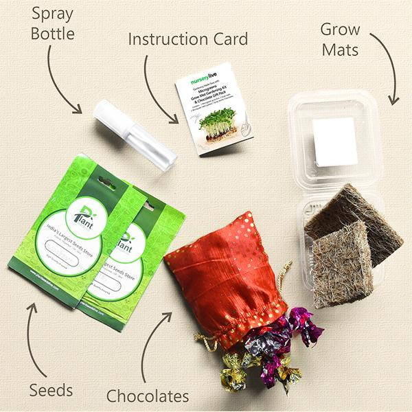 Gardening Made Easy with Microgreens Grow Mat Gardening Kit and Chocolate Gift Pack
