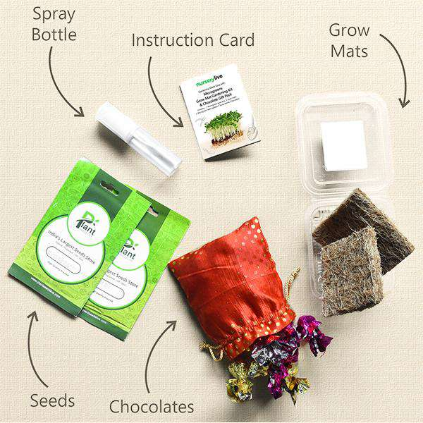 Gardening Made Easy with Microgreens Grow Mat Gardening Kit and Chocolate - Corporate Gift (Set of 30)