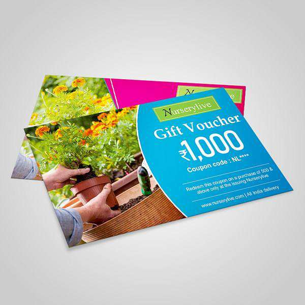 Nurserylive Gift Card - Rs 1000 - Nurserylive