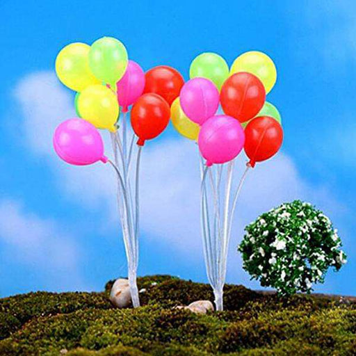 Balloon plastic miniature garden toys (Round) - 1 Bunch - Nurserylive
