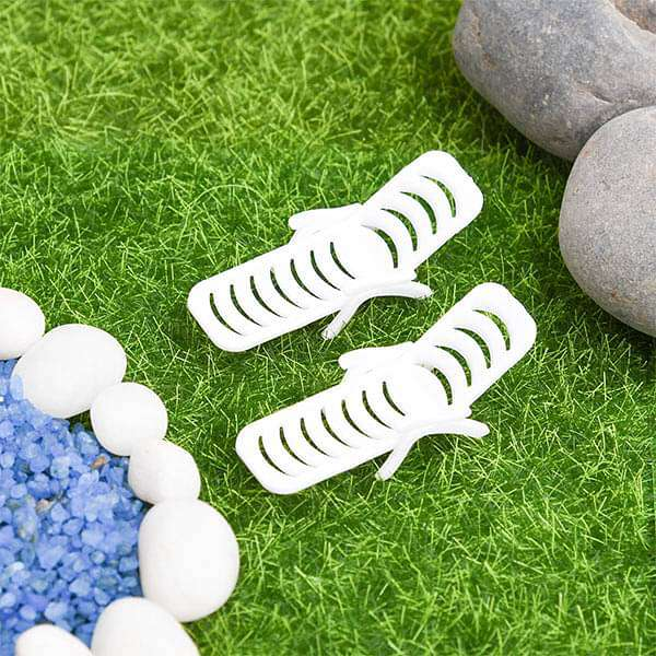 Beach relaxing chairs plastic miniature garden toys - 2 Pieces - Nurserylive