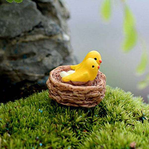 Bird nest plastic miniature garden toy - 1 Piece - Nurserylive