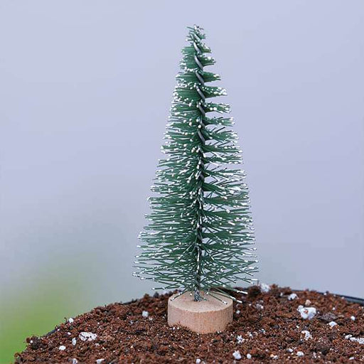 Christmas tree plastic miniature garden toy (Green) - 1 Piece - Nurserylive