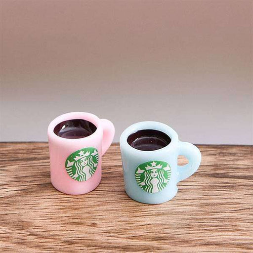 Coffee Mugs plastic miniature garden toys (Pink, Blue) - 1 Pair - Nurserylive