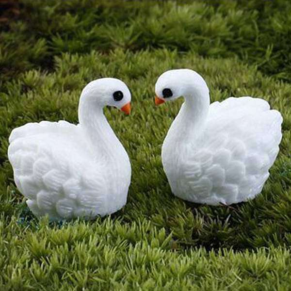 Cute ducks plastic miniature garden toys - 1 pair - Nurserylive