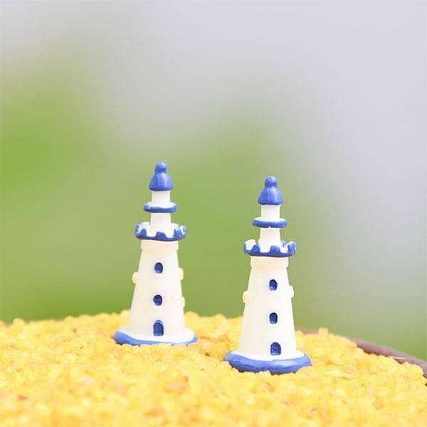 Light house plastic miniature garden toy - 1 Piece - Nurserylive
