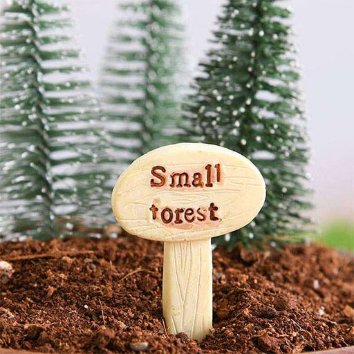 Small forest signboard plastic miniature garden toy - 1 Piece - Nurserylive