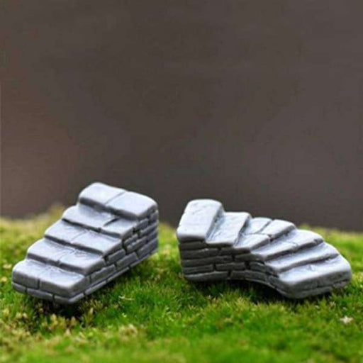 Stone stairs plastic miniature garden toys - 2 Pieces - Nurserylive
