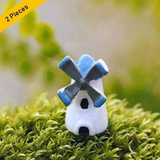 Windmills plastic miniature garden toys - 2 Pieces - Nurserylive