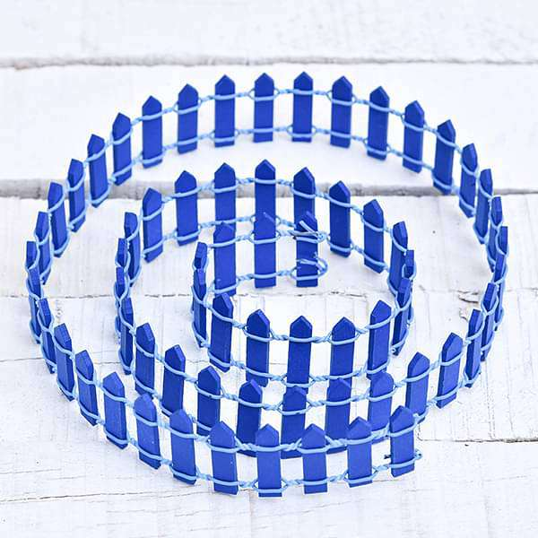 Wooden fence miniature garden toy (Royal blue, Big) - 1 Piece - Nurserylive
