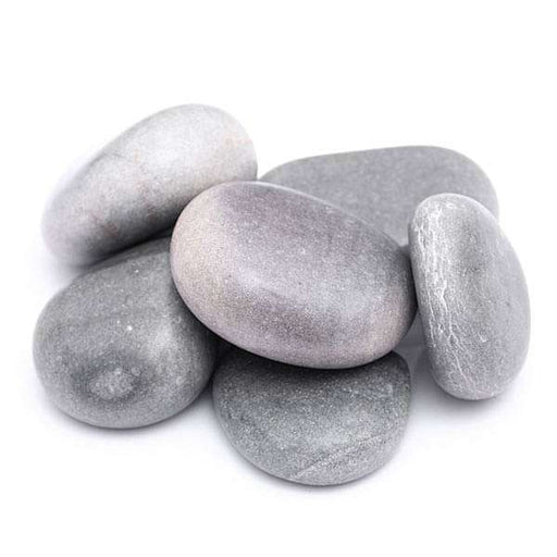 Flat River Pebbles (Grey, Big, Polished) - 2 kg - Nurserylive
