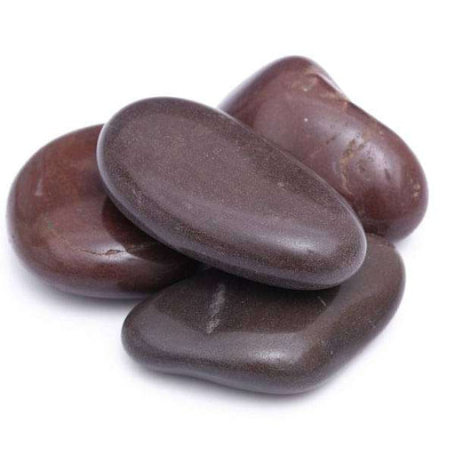Garden Pebbles (Dark Brown, Big, Polished) - 2 kg - Nurserylive