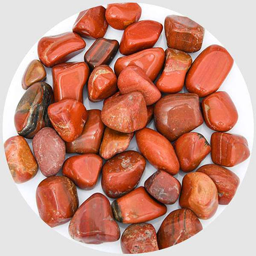Jasper Garden Pebbles (Red, Medium) - 1 kg - Nurserylive