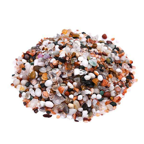 Marble Chips Pebbles (Mix Color, Small, Polished) - 1 kg - Nurserylive