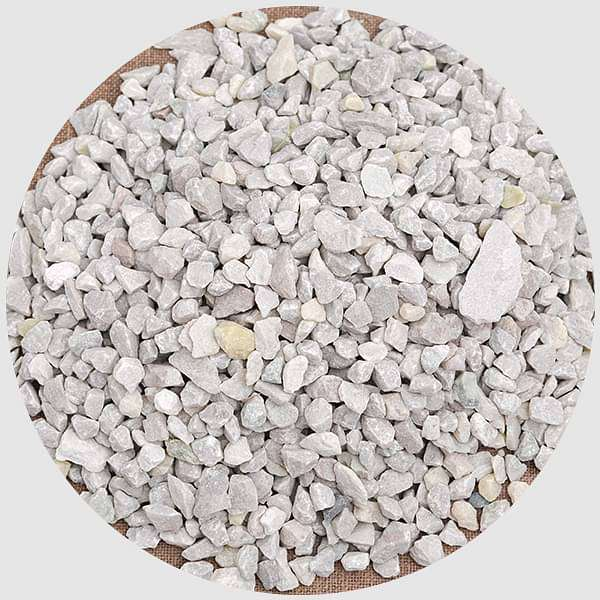 Natural Chips Pebbles (White, Small, Unpolished) - 1 kg - Nurserylive