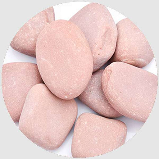 Natural Pebbles (Peach Color, Medium, Unpolished) - 2 kg - Nurserylive